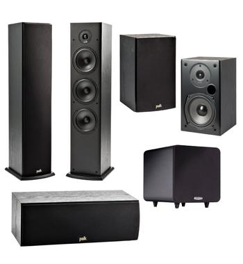 Polk Audio T Series 5.1 Channel Home Theatre Speaker Pack TSERIESPACK