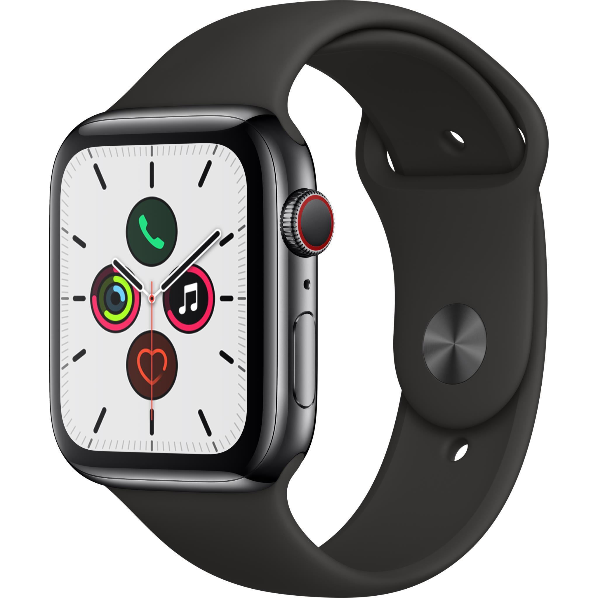 Apple Watch Series 5 44mm Space Black Stainless Steel Case GPS + Cellular