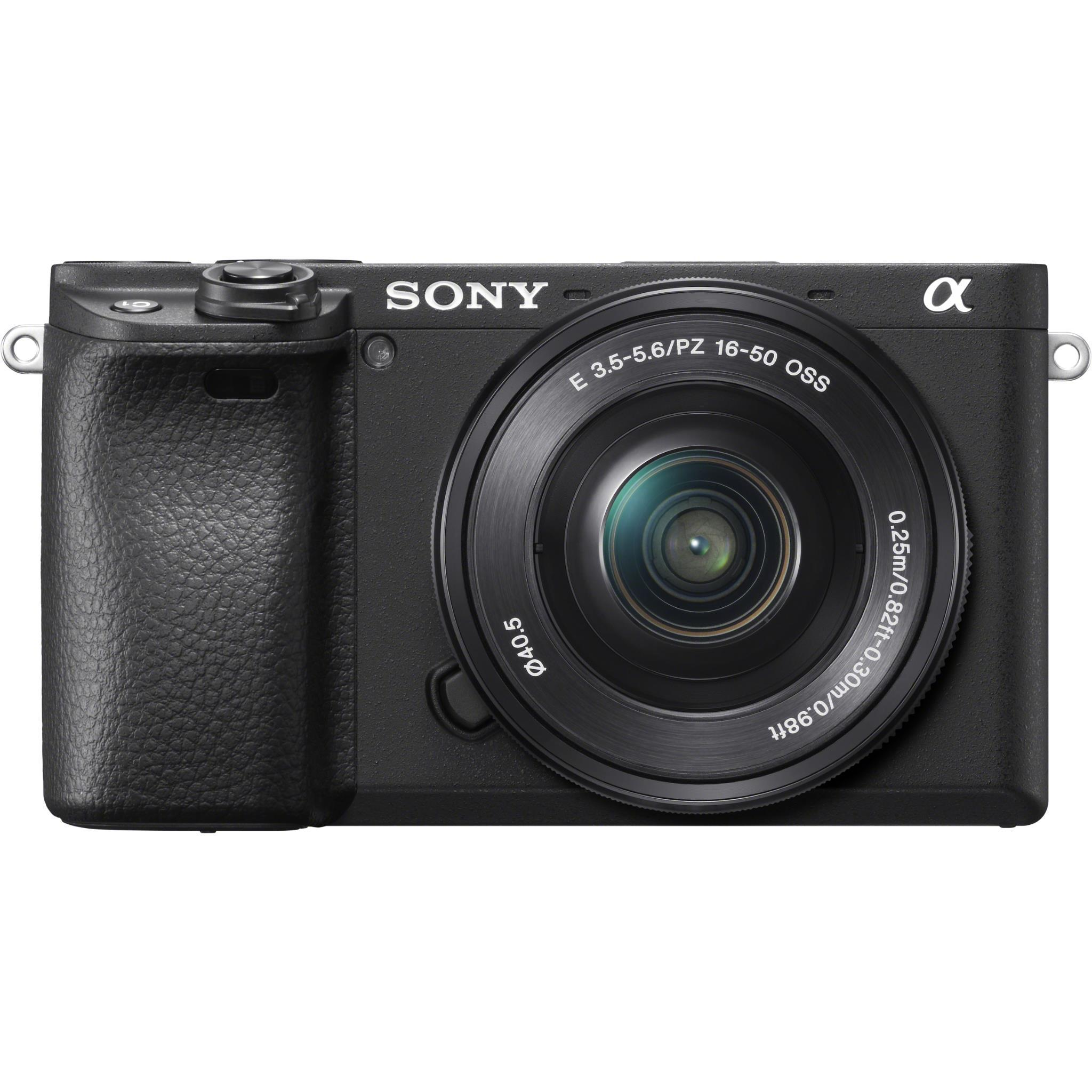 Sony Alpha A6400 Mirrorless Camera with Ultra-High Speed AF [4K Video] with 16-50mm Lens (Black)