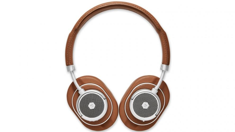 Master and Dynamic MW50+ True Wireless On-Ear Headphone – Brown/Silver