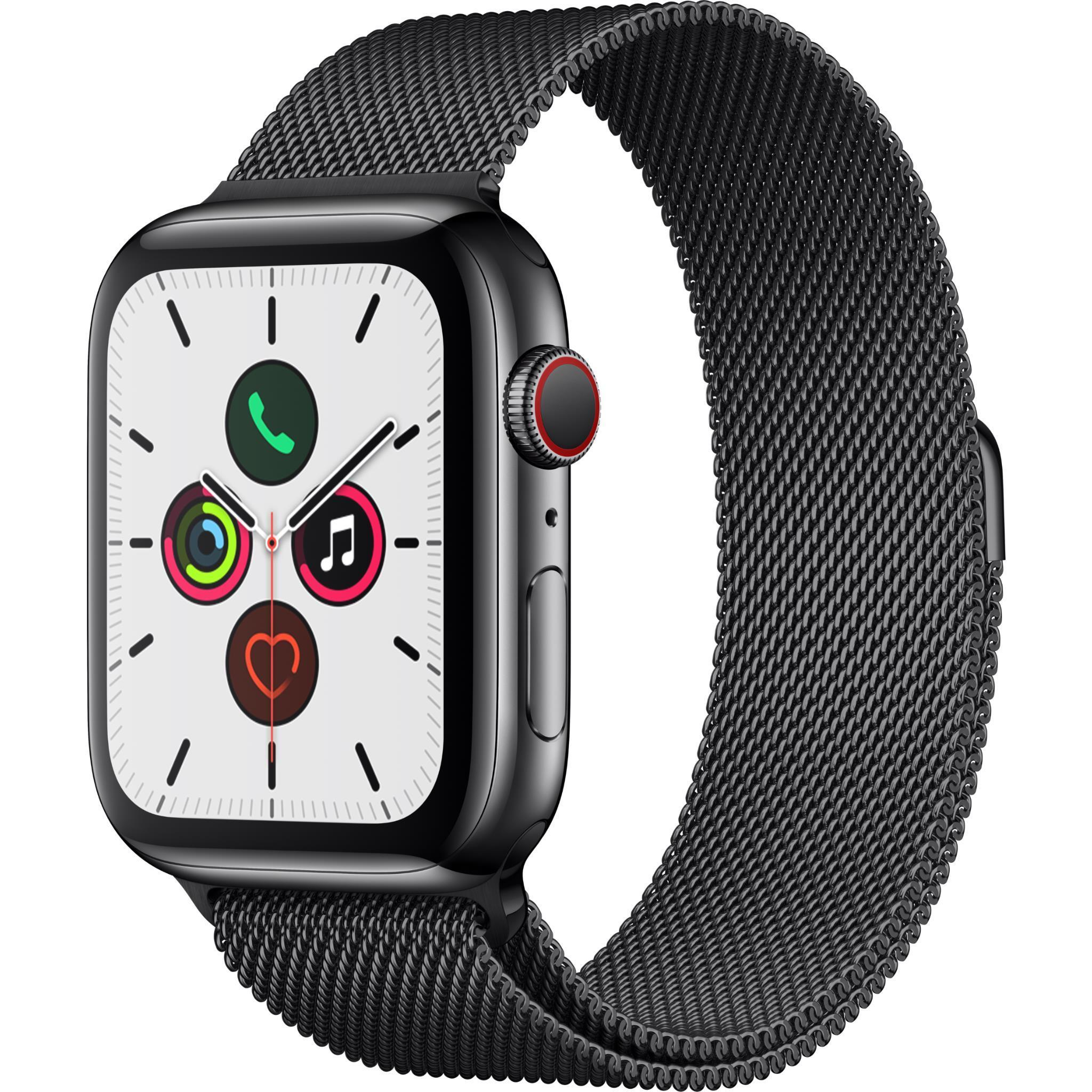 Apple Watch Series 5 44mm Space Black Stainless Steel Case with Milanese Loop GPS + Cellular