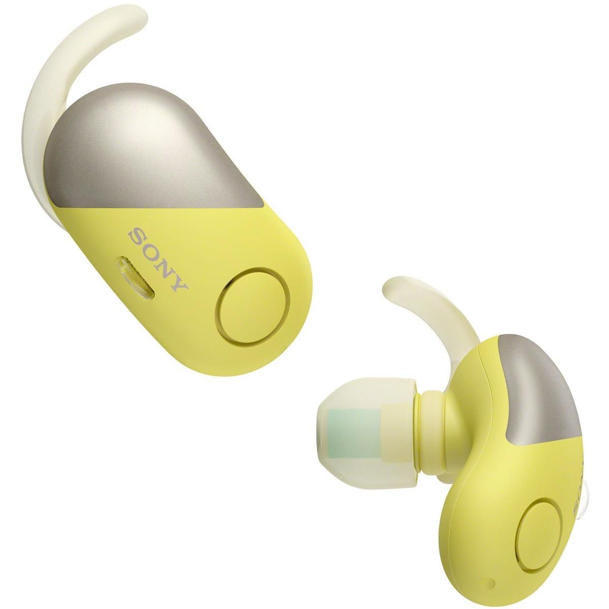 Sony Truly Wireless Noise Cancelling Sports Headphones WFSP700NY – Yellow