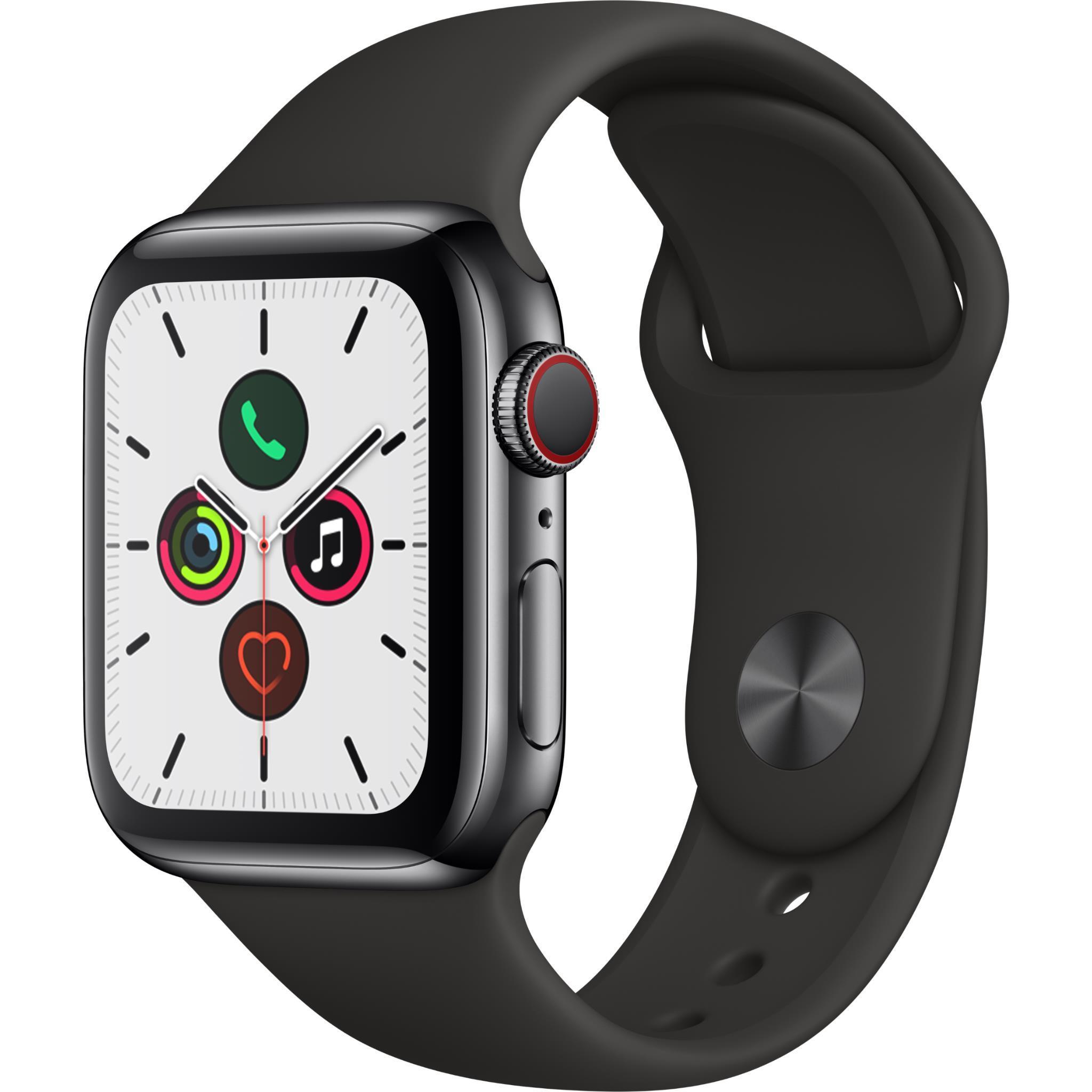 Apple Watch Series 5 40mm Space Black Stainless Steel Case GPS + Cellular