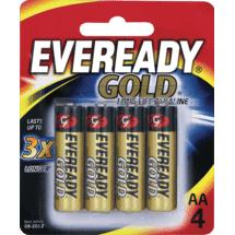 Eveready Gold AA Batteries 4 Pack