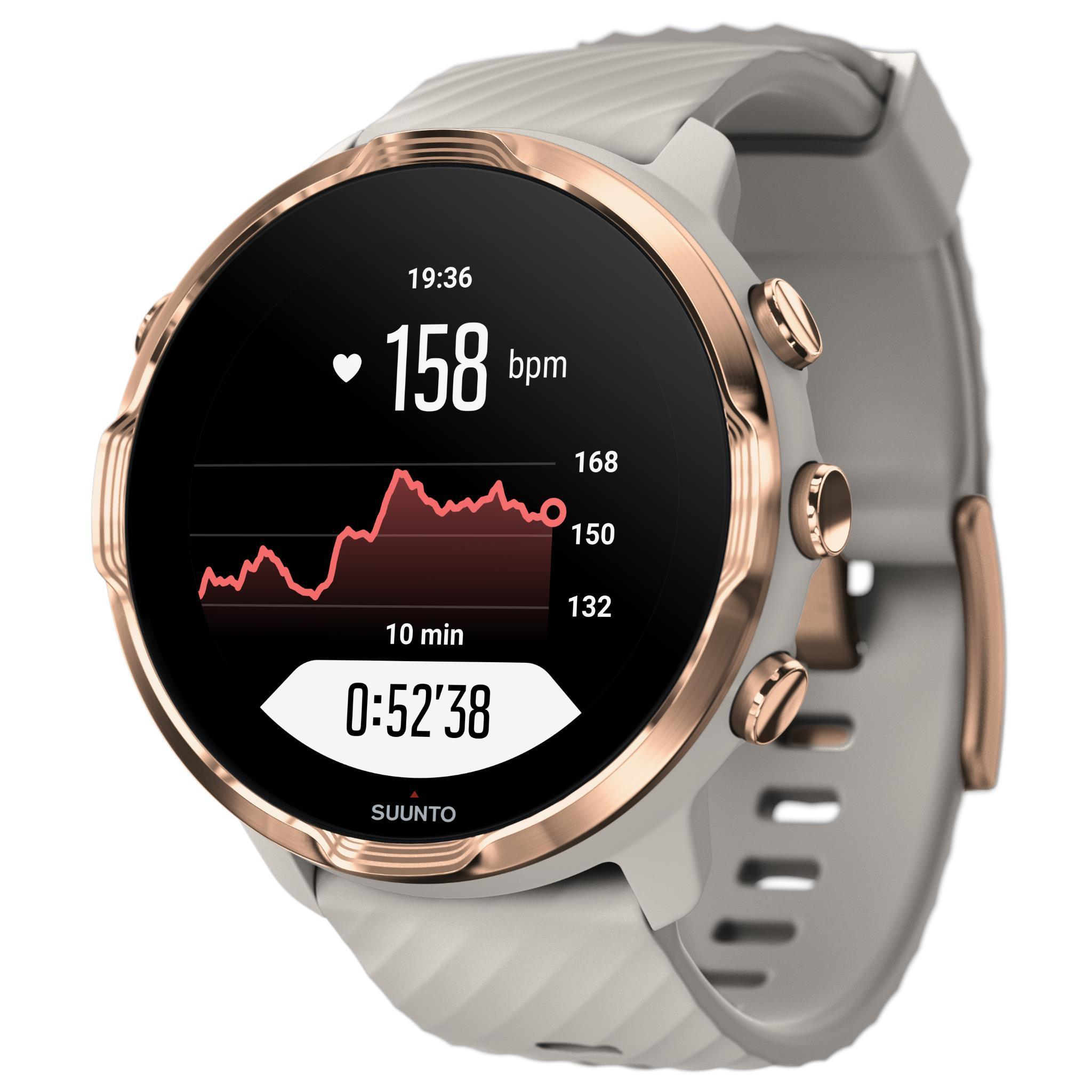 Suunto 7 GPS Sports Watch (Rose Gold/Sandstone)