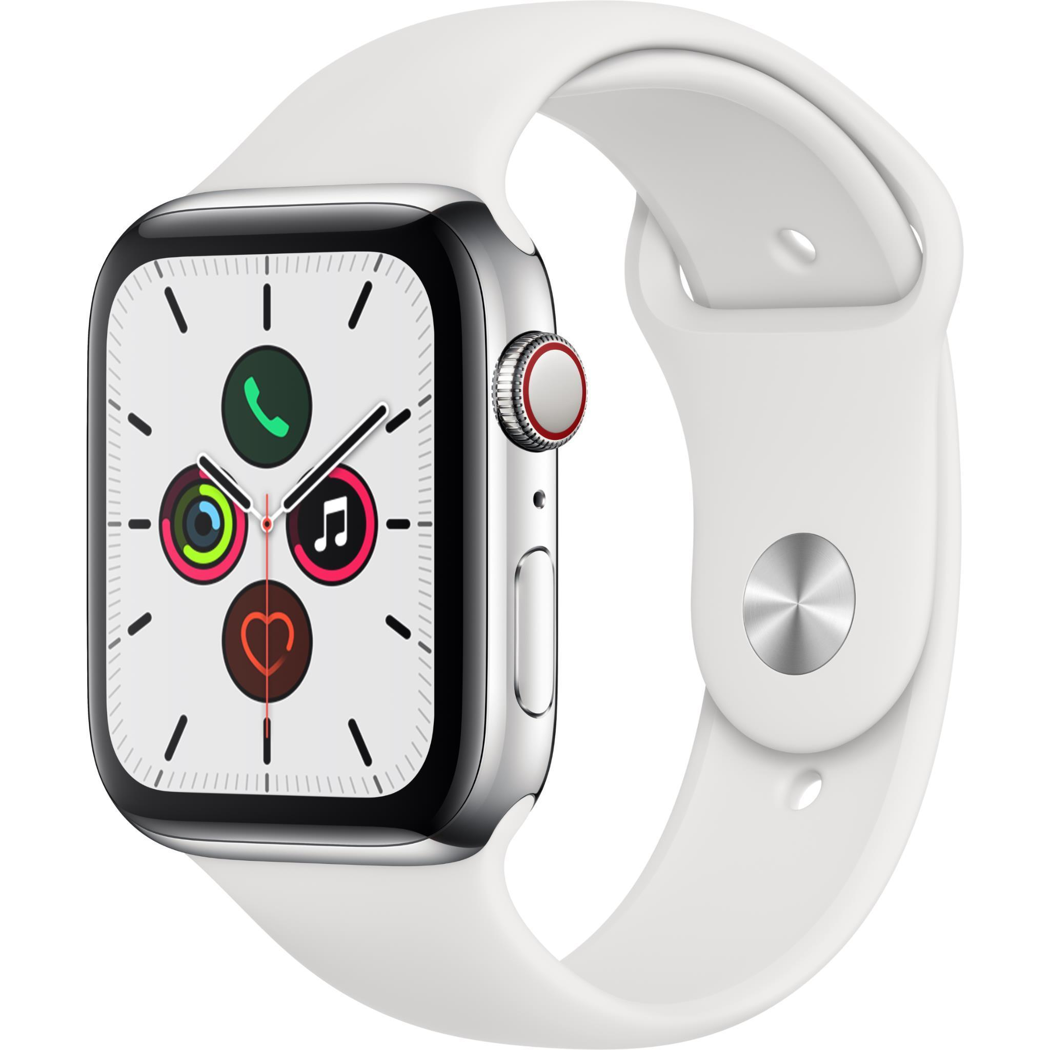 Apple Watch Series 5 44mm Silver Stainless Steel Case GPS + Cellular