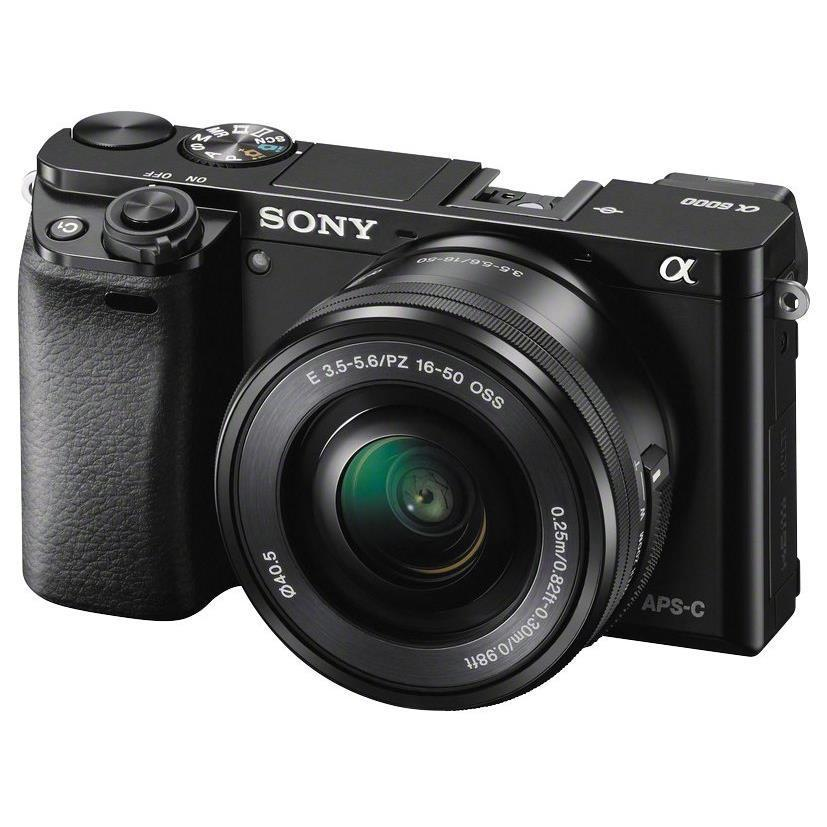 Sony Alpha A6000 Mirrorless Camera with Ultra-High Speed AF and 16-50mm Lens (Black)