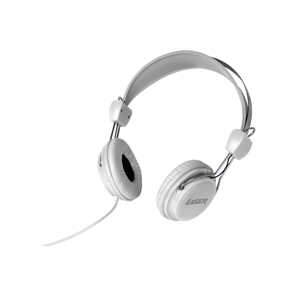 Laser Kids Stereo Headphones – White