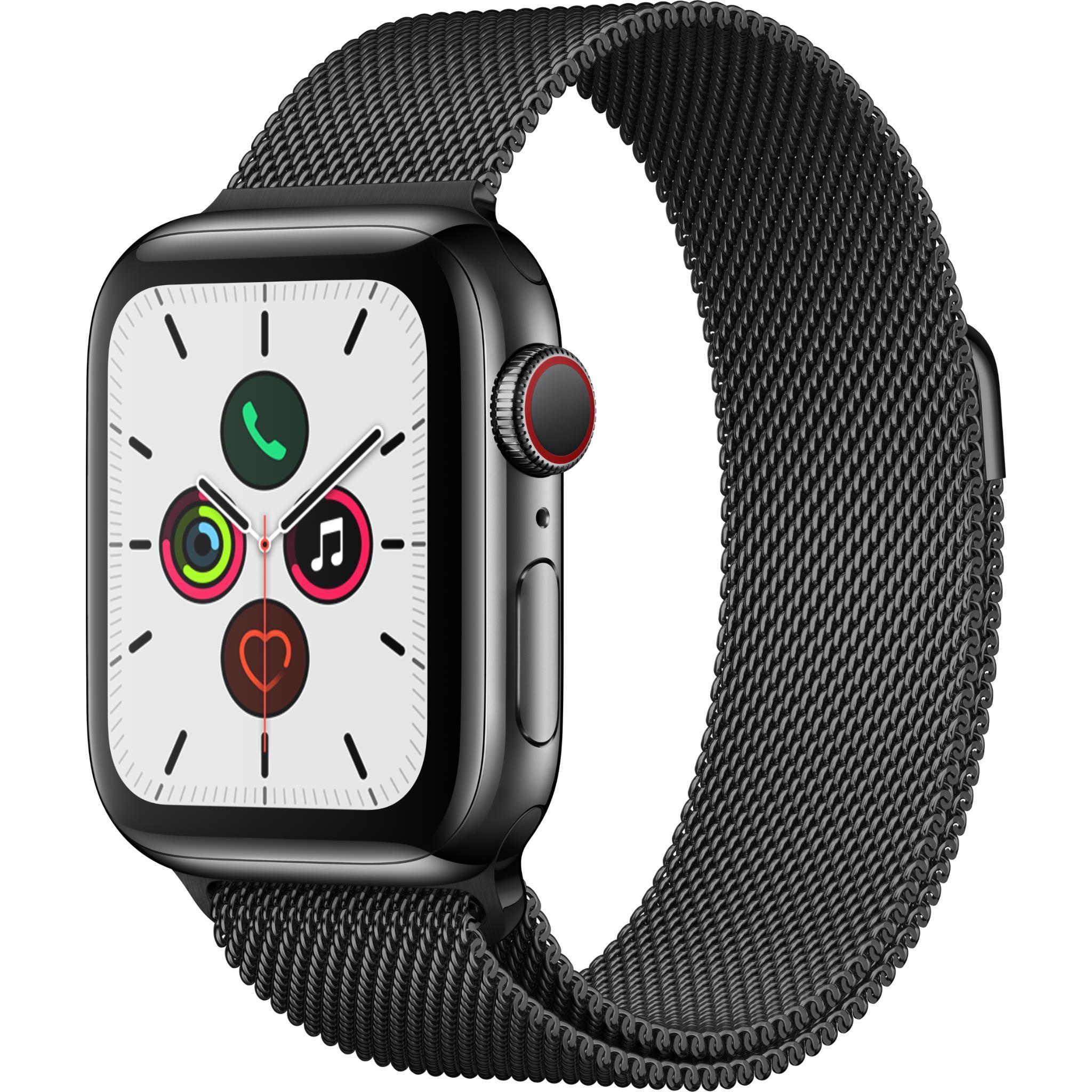 Apple Watch Series 5 40mm Space Black Stainless Steel with Milanese Loop GPS + Cellular
