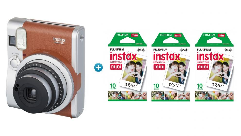 Instax Mini 90 Neo Classic (Brown) Christmas Bundle