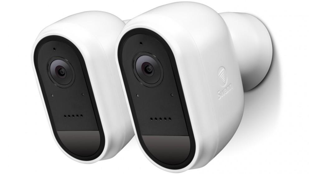 Swann 2-Pack 1080p Wire-Free Outdoor Security Camera – White