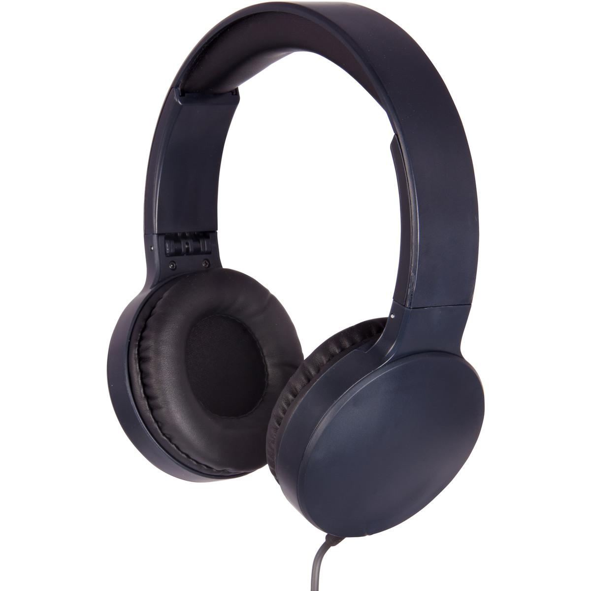 Laser Foldable Padded Wired Headphones – Black