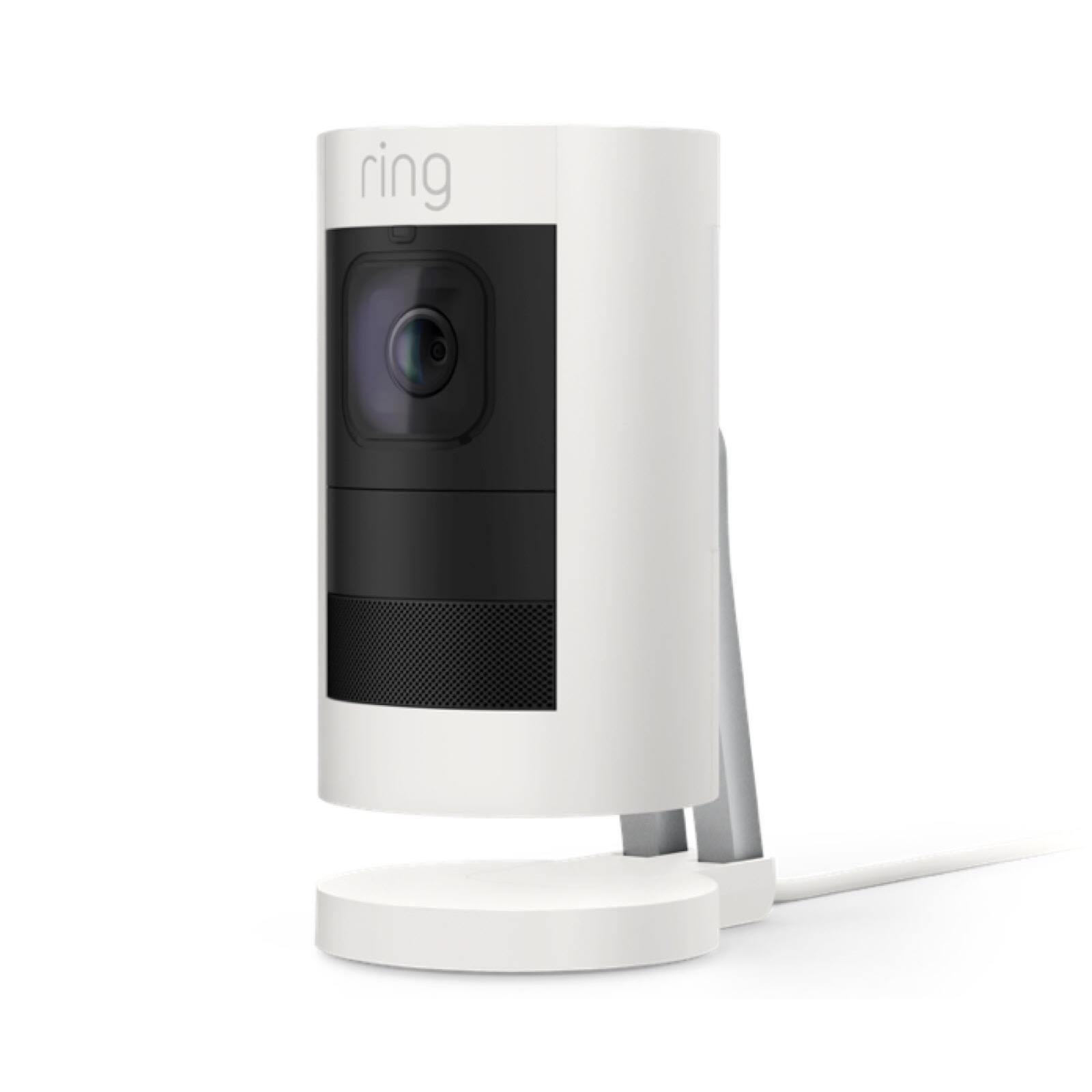 Ring Stick Up Cam Wired HD Security Camera (White)