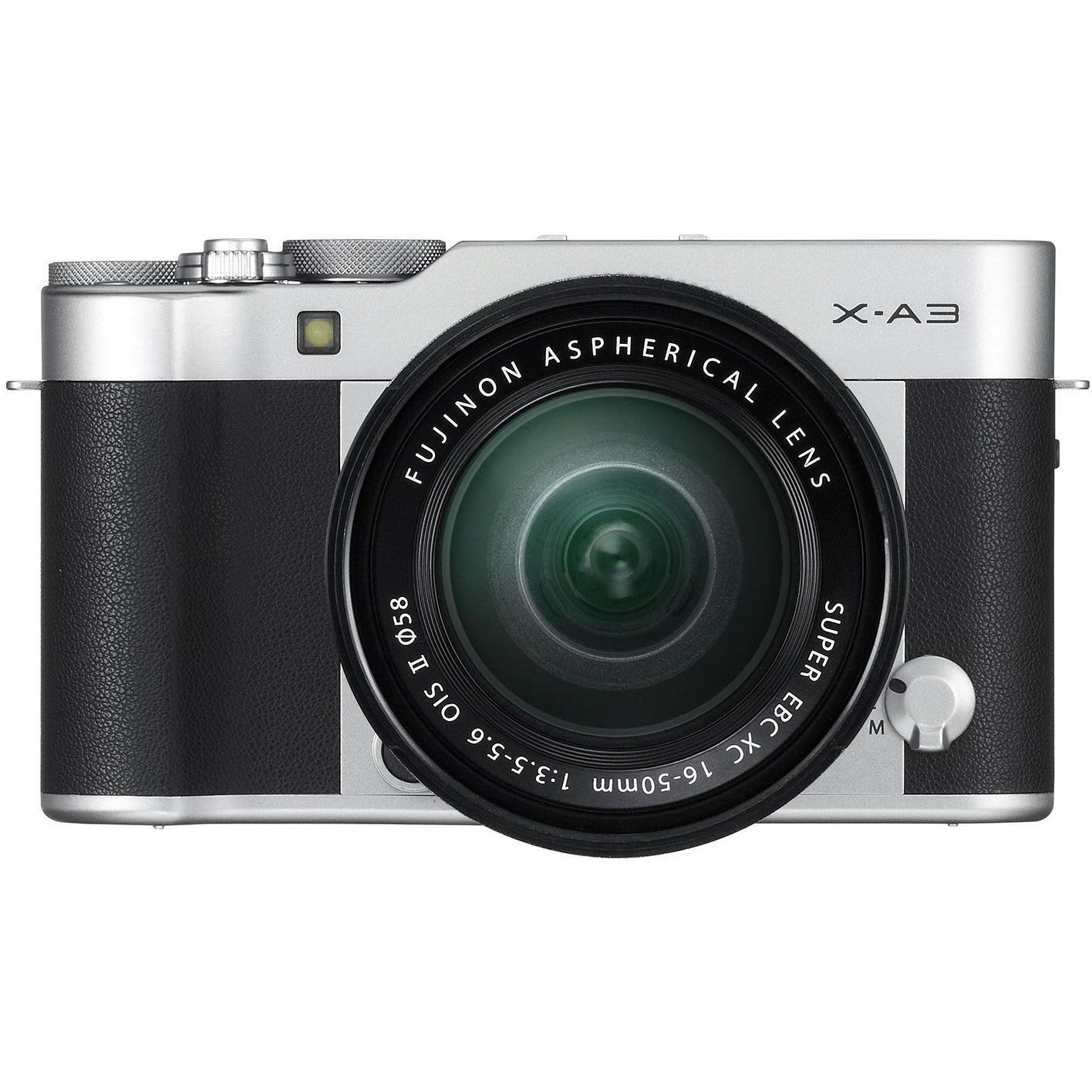 Fujifilm X-A3 Mirrorless Camera with XC 16-50mm Lens (Silver)