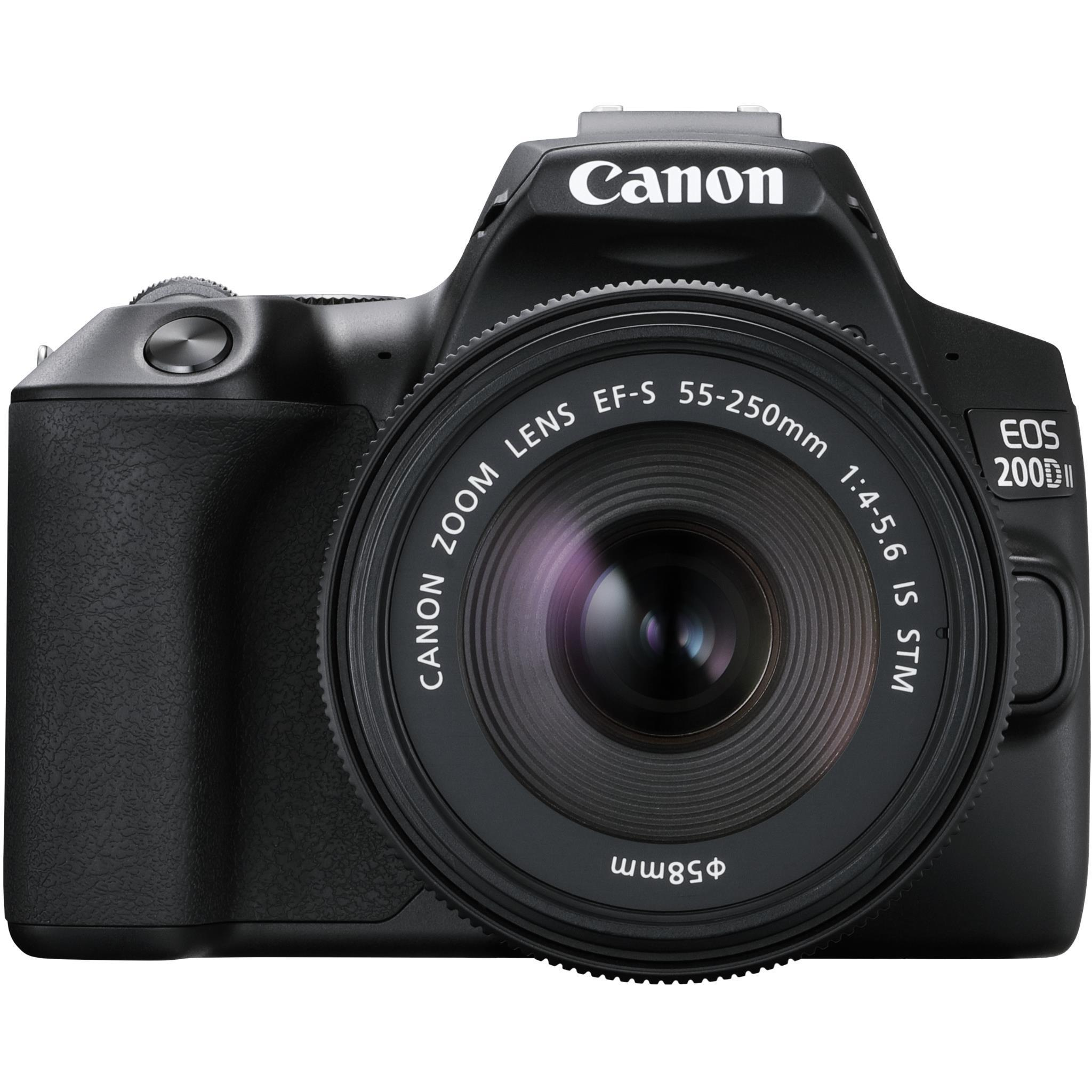 Canon EOS 200D II DSLR Twin Kit with 18-55mm & 55-250mm Lenses [4K Video]