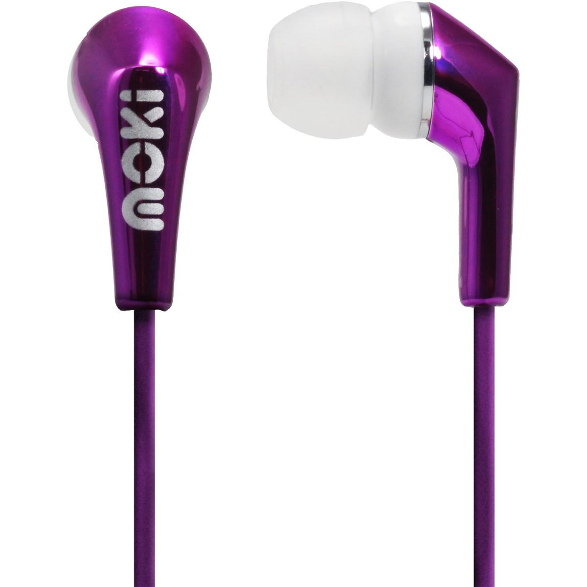 Moki Metallics Earphone – Purple