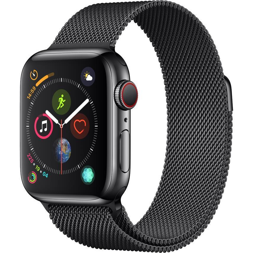 Apple Watch Series 4 40mm Black Stainless Steel Case (GPS + Cellular)