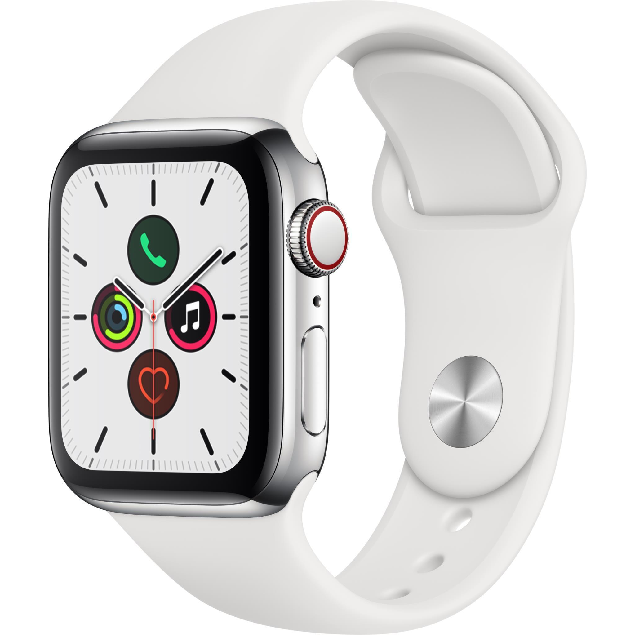 Apple Watch Series 5 40mm Silver Stainless Steel Case GPS + Cellular