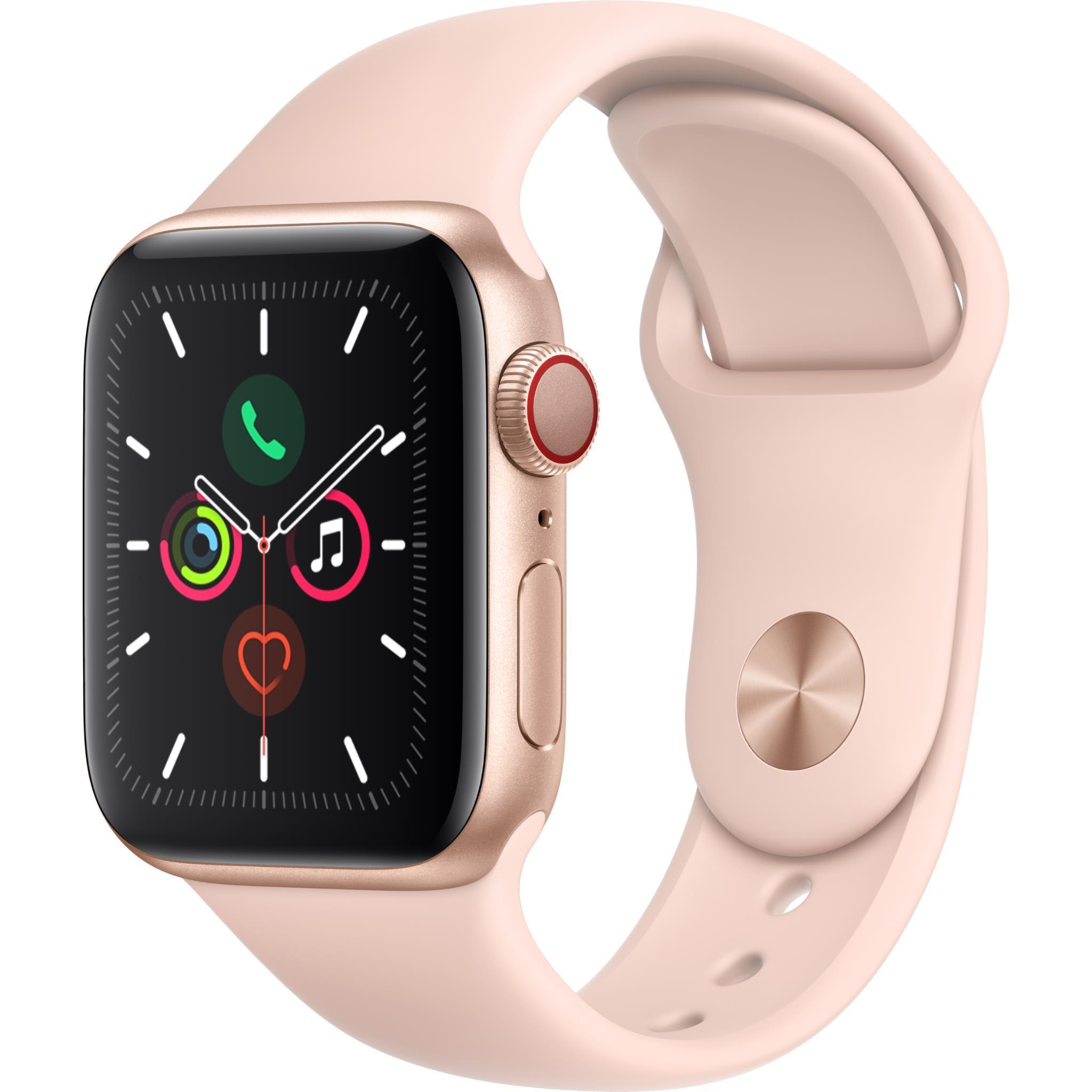 Apple Watch Series 5 40mm Gold Aluminum Case GPS + Cellular