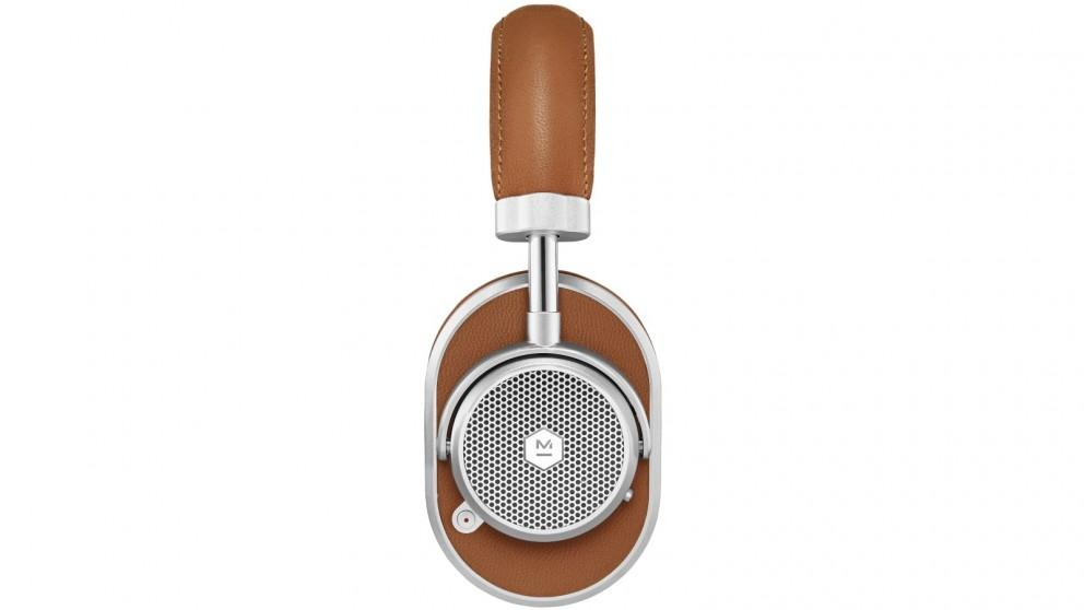 Master and Dynamic MW65 Wireless Bluetooth Noise Cancelling Over-Ear Headphones – Brown/Silver