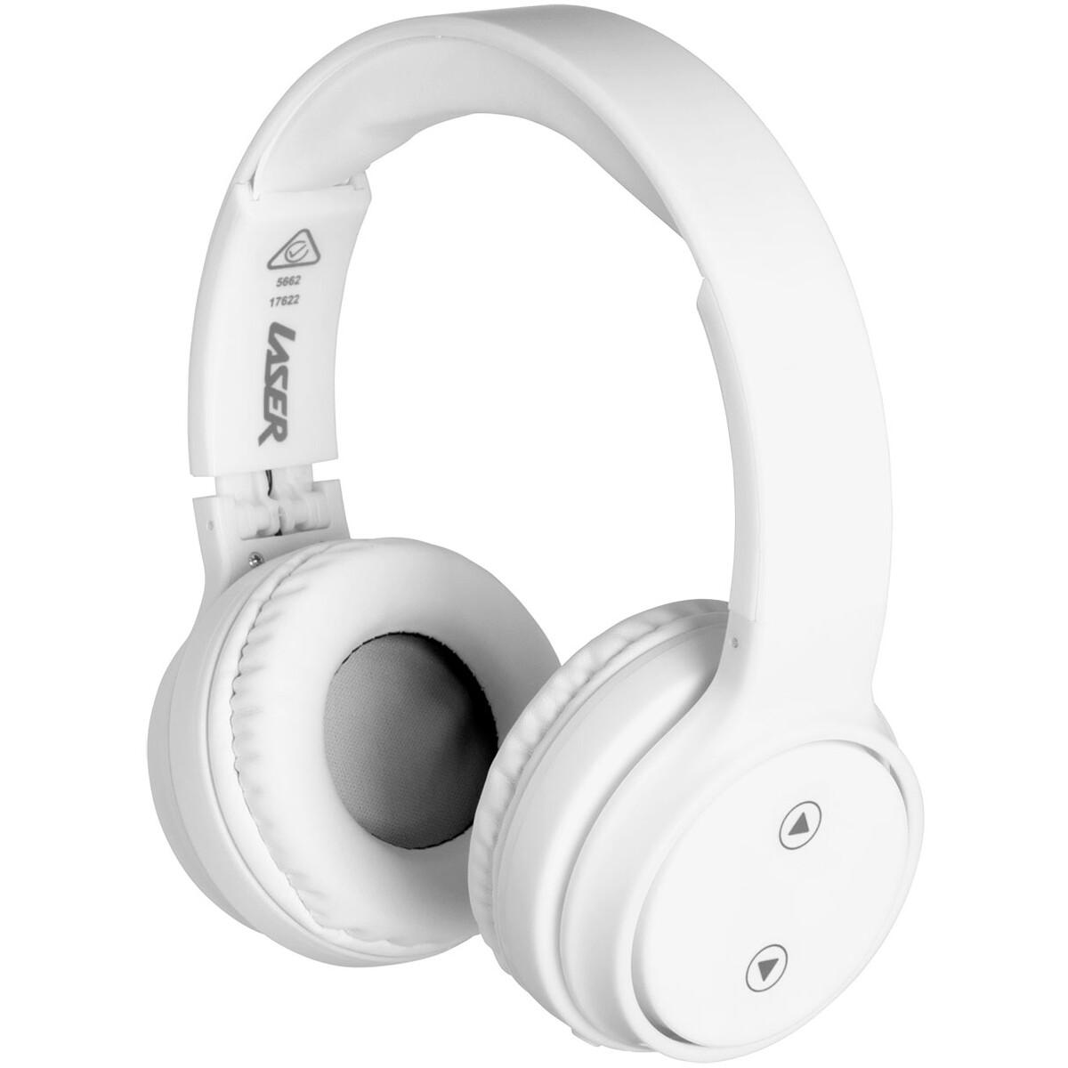 Laser Foldable Bluetooth Headphones – White