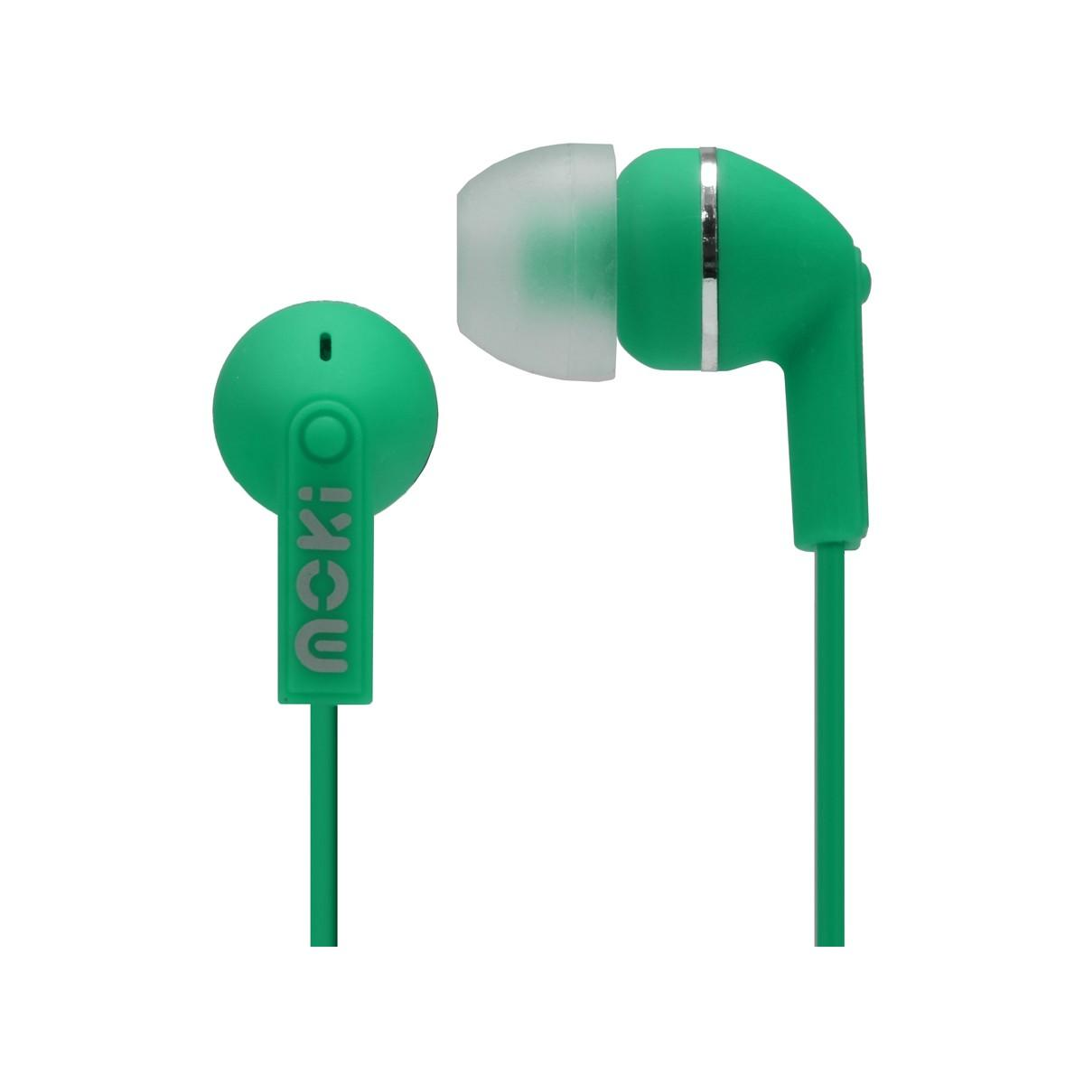 Moki Dots Noise Isolation Earbuds – Green