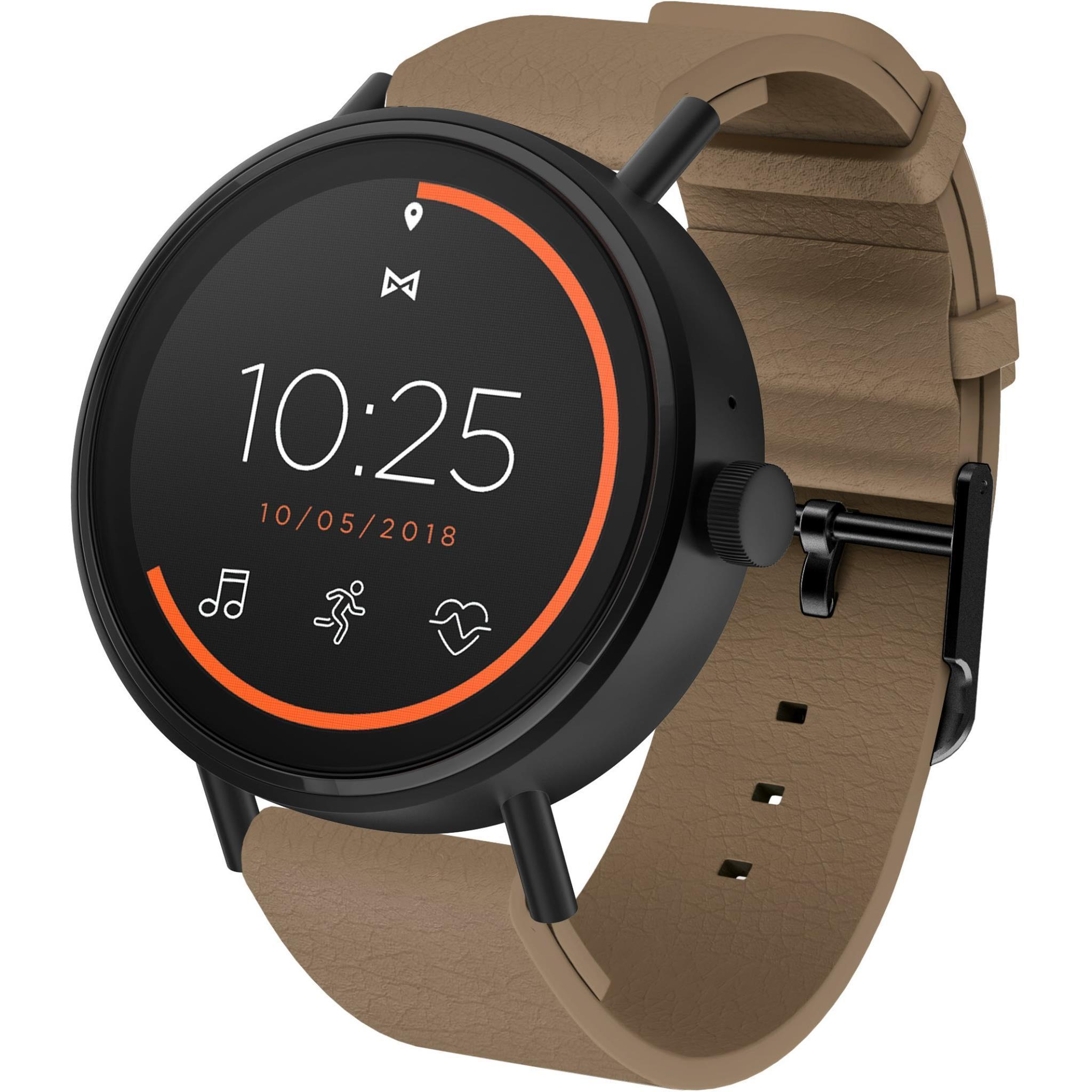 Misfit Vapor 2 46mm Smart Watch (Black/Brown)