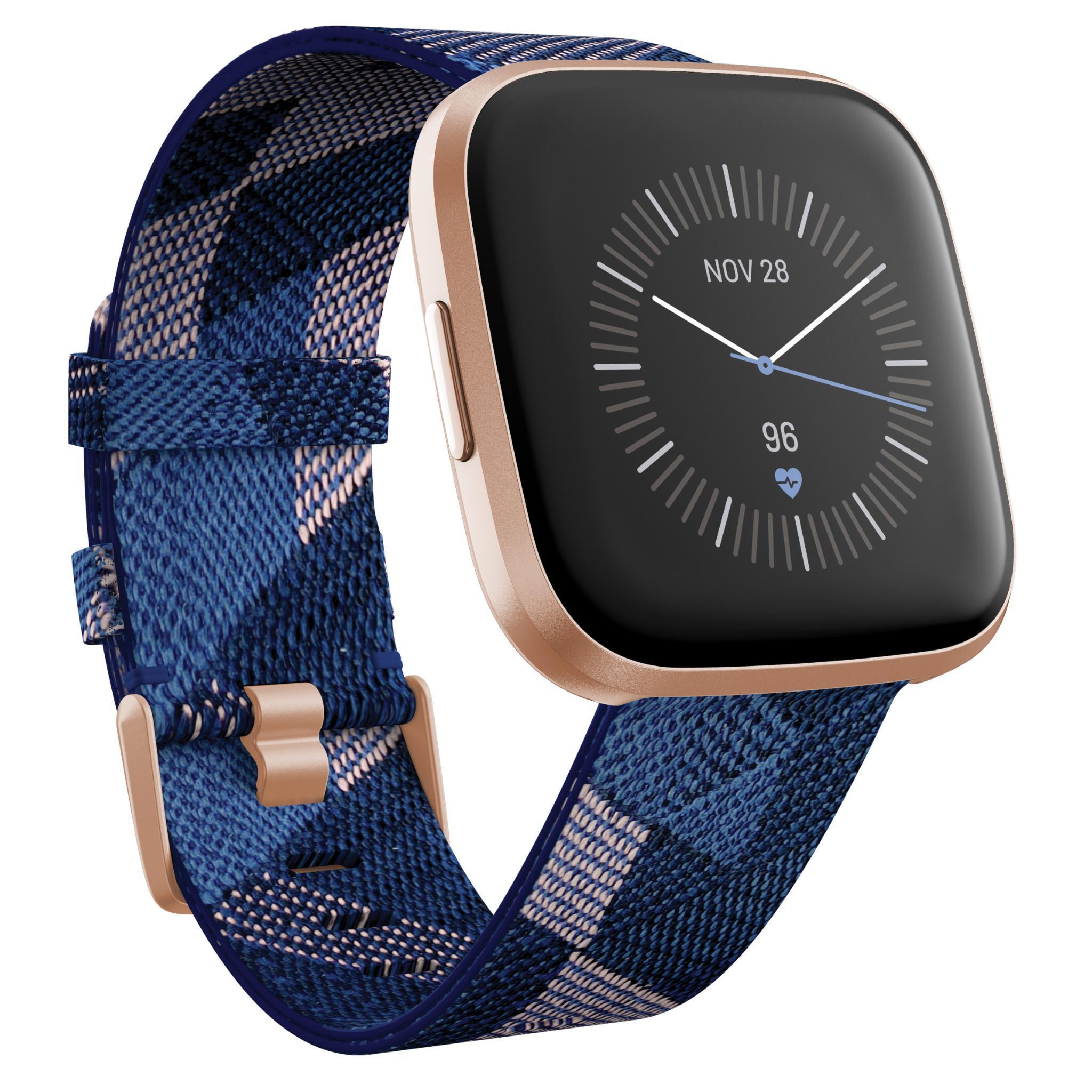 Fitbit Versa 2 Smart Fitness Watch Special Edition (Navy & Pink Woven)