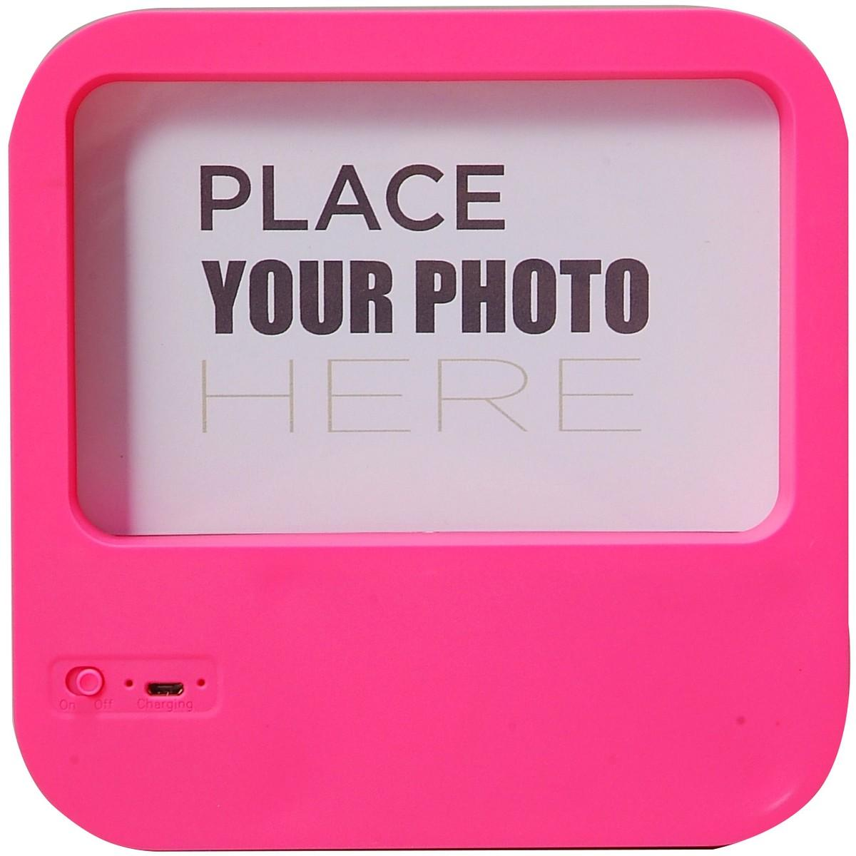 Billboard Photo Frame Wireless Speaker – Pink