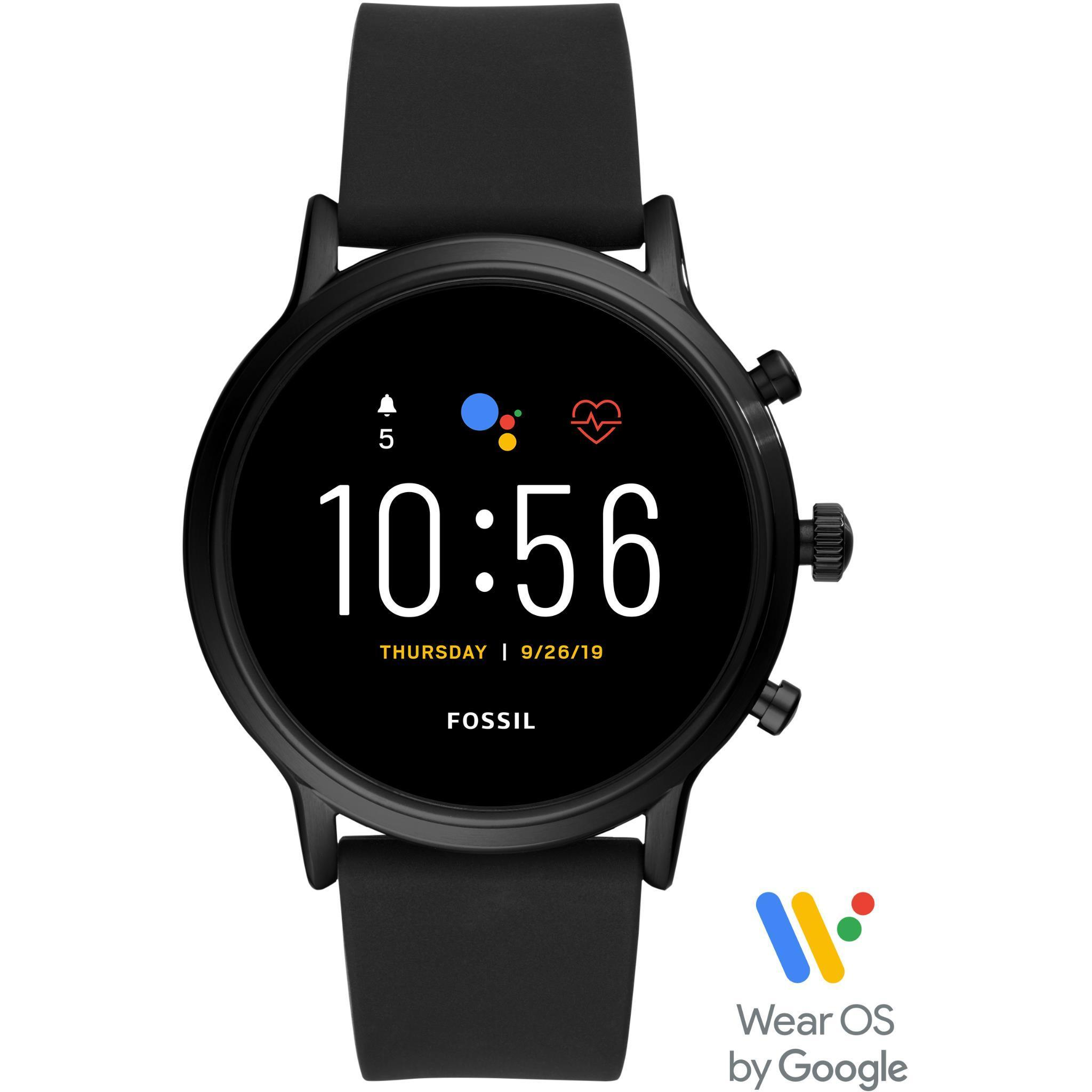 Fossil Gen 5 The Carlyle HR Smart Watch (Black Silicone)