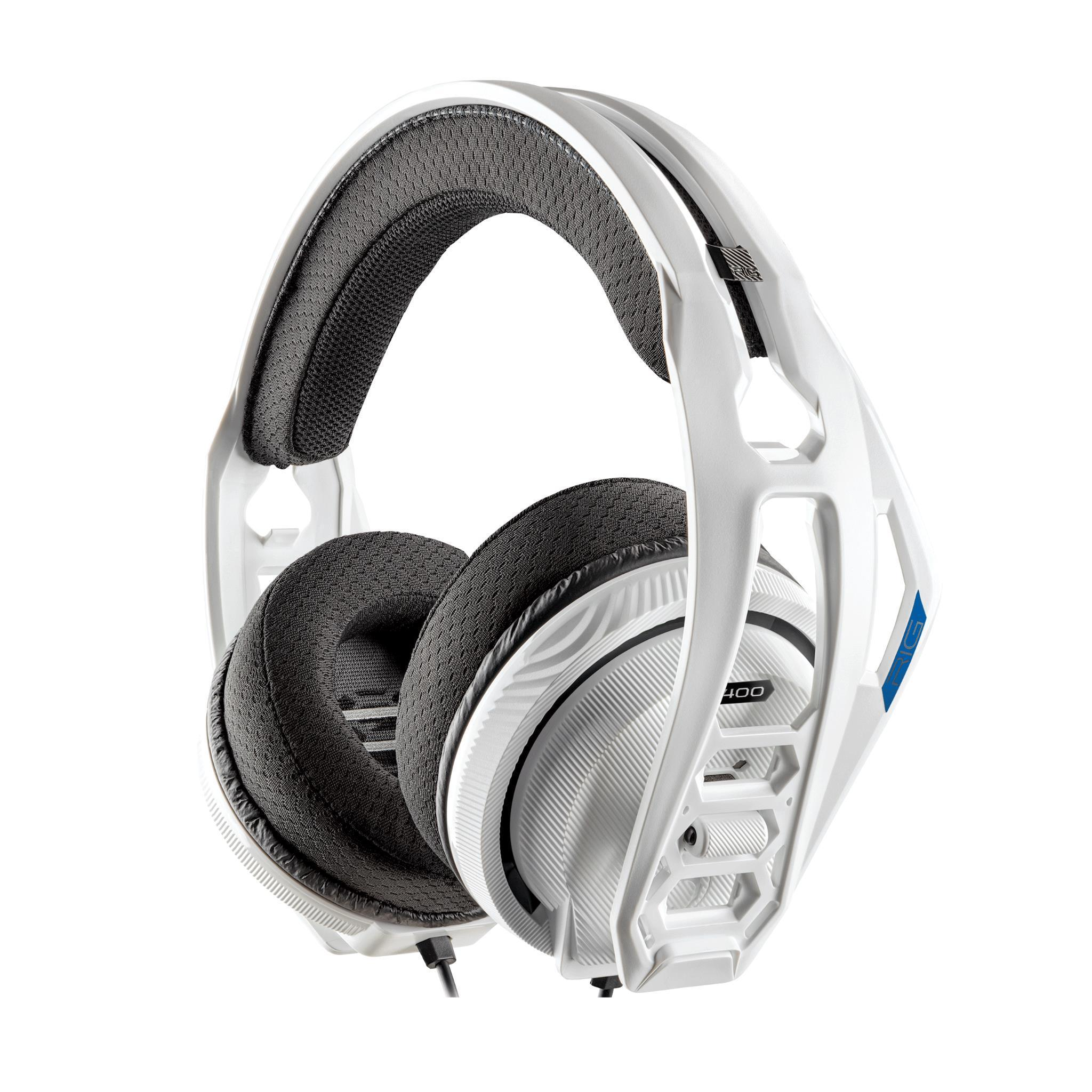 Plantronics RIG 400HS Stereo Gaming Headset for PS4 (White)