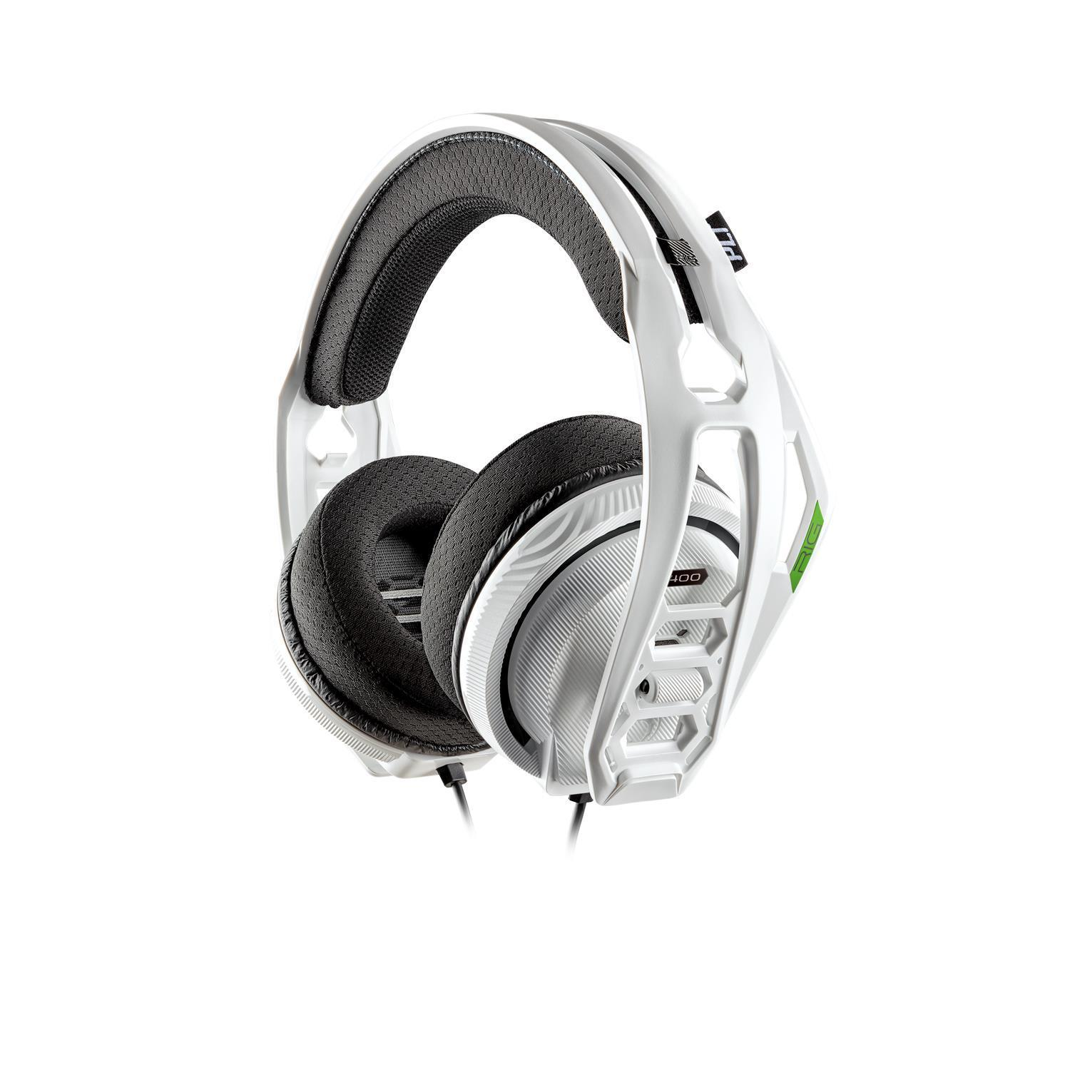 Plantronics RIG 400HX Stereo Gaming Headset for Xbox One (White)