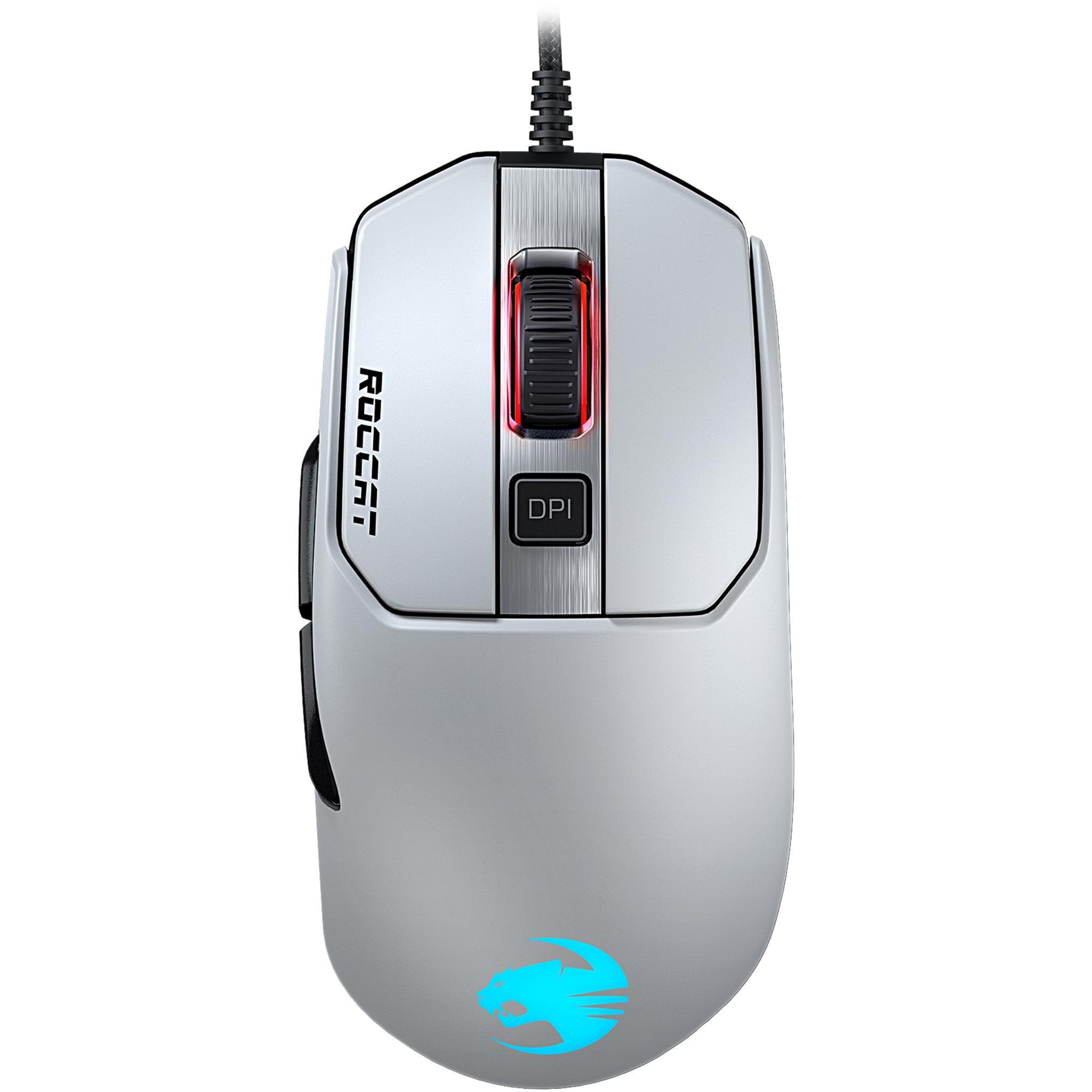 ROCCAT Kain 122 AIMO RGB Gaming Mouse (White)