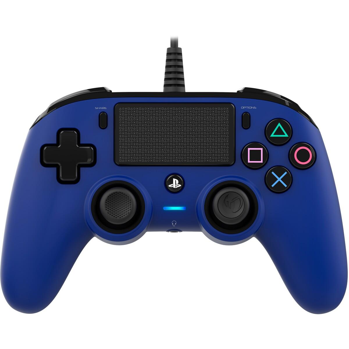 Nacon Gaming PS4 Wired Compact Controller – Blue