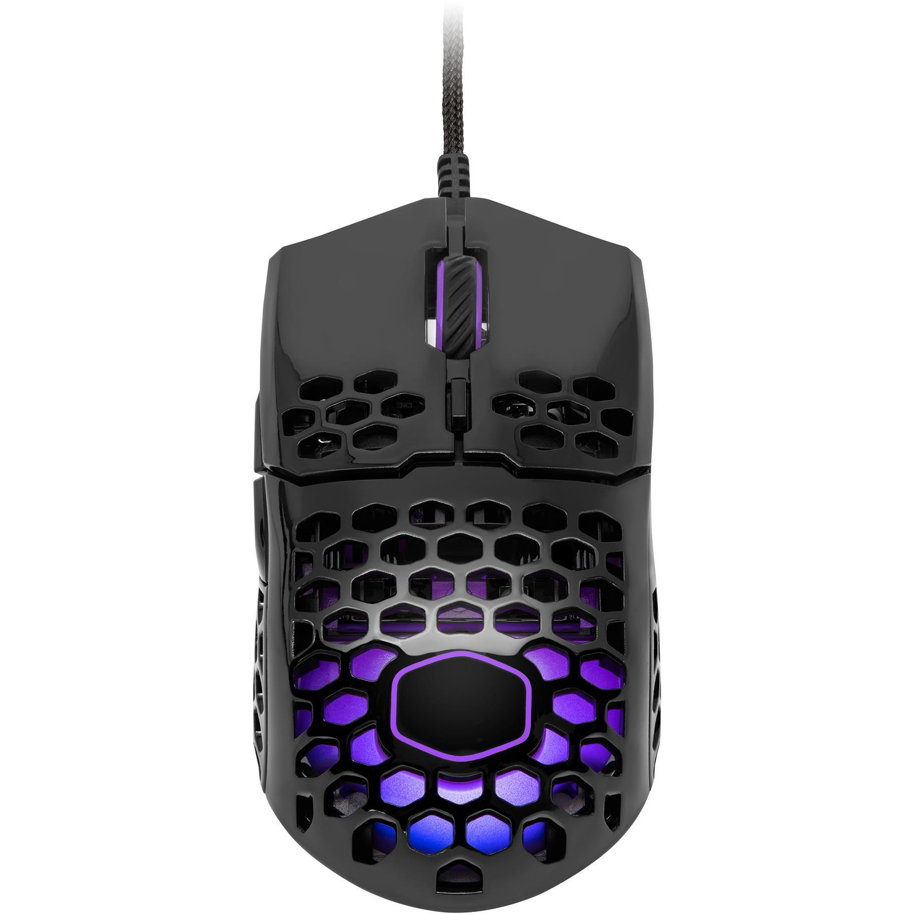 CoolerMaster MM711 RGB Ultra-Light Pro Gaming Mouse (Glossy Black)