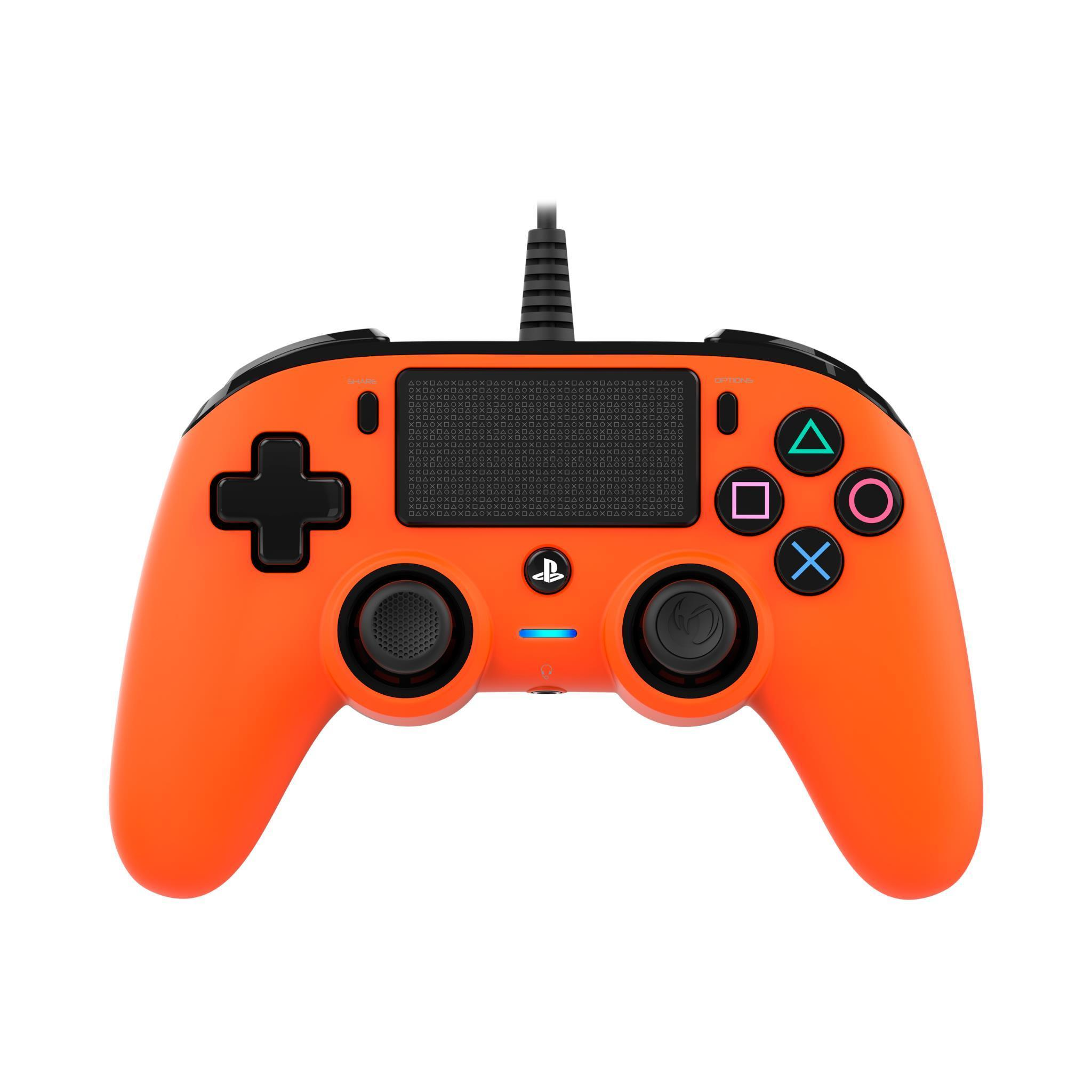 Nacon Wired Compact Controller for PlayStation 4 – Orange