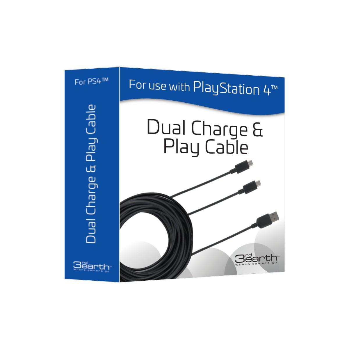 Dual Charge & Play Cable 5m – Black