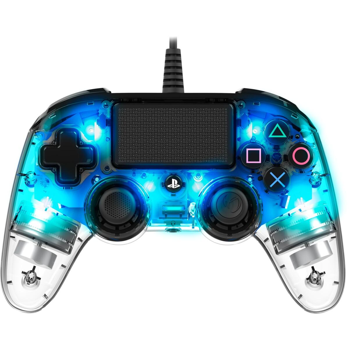 Nacon Wired Compact Controller – Illuminated Light Blue