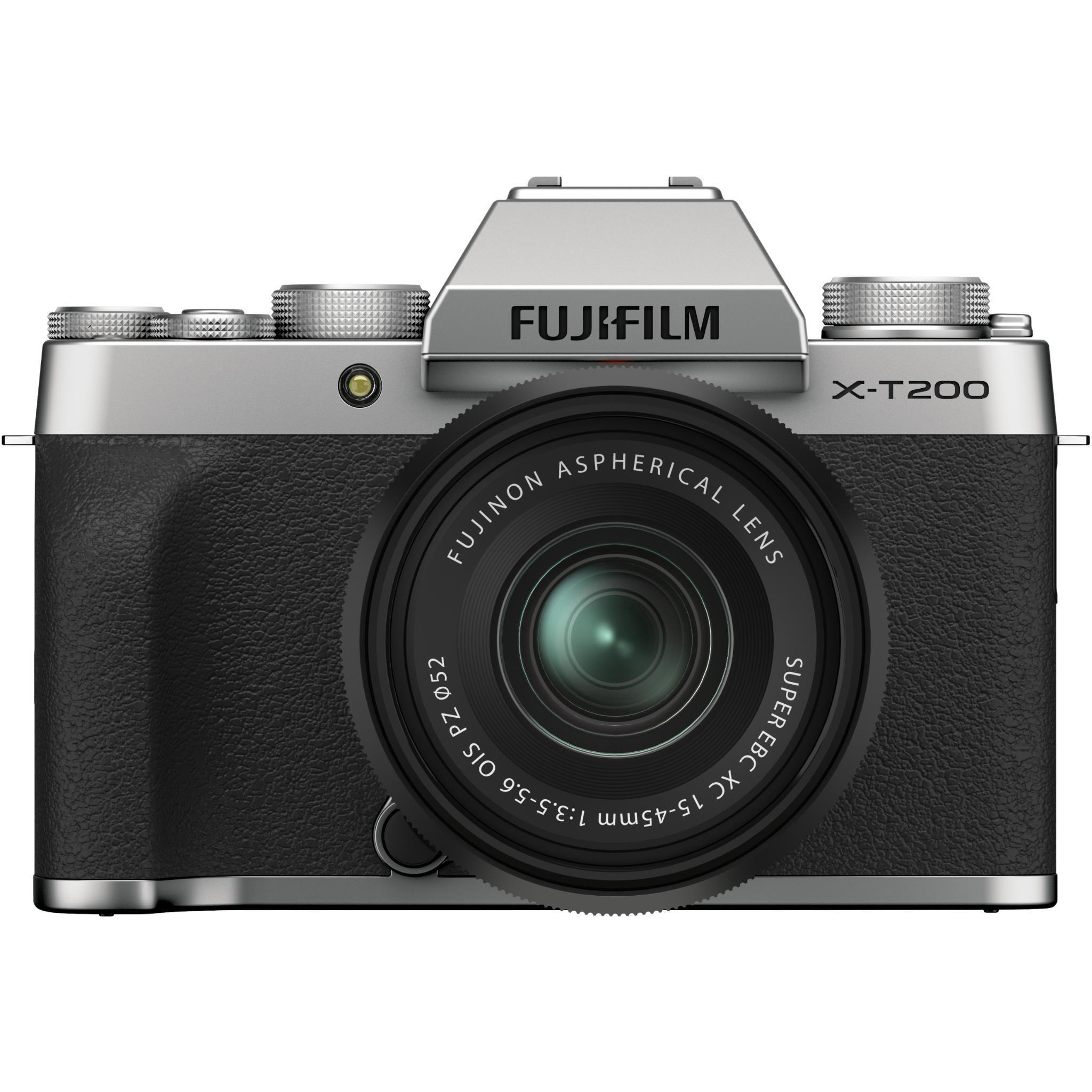 Fujifilm X-T200 Mirrorless Camera with XC15-45mm Lens (Silver)