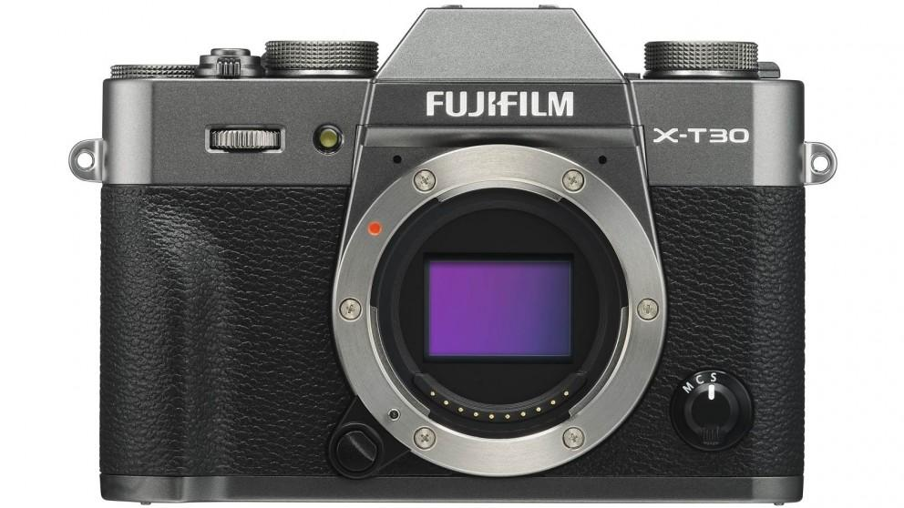 Fujifilm X-T30 Mirrorless Camera Body Only – Charcoal Silver