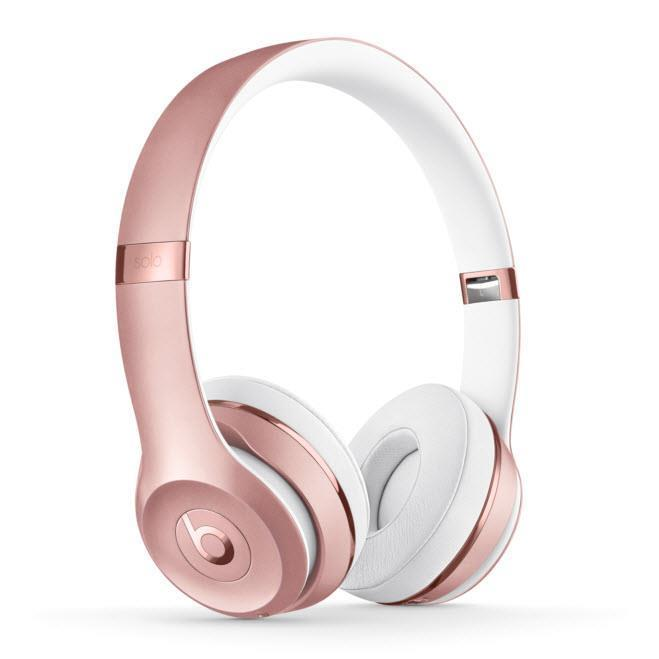 Beats Solo 3 Wireless On-Ear Headphones (Rose Gold)