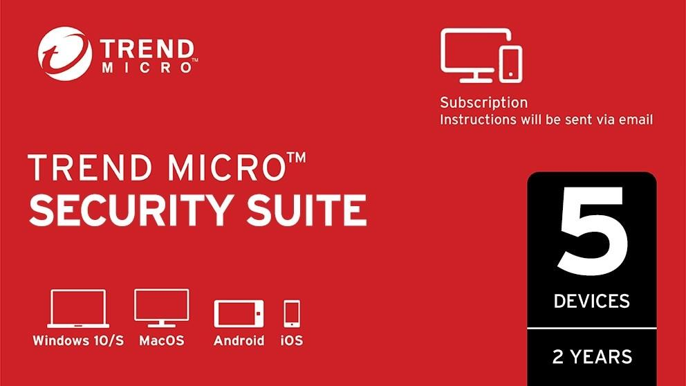 Trend Micro Security Suite Digital Download – 2 Years for 5 Devices