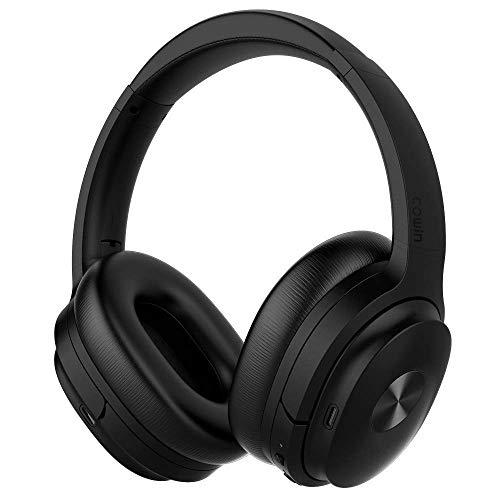 COWIN SE7 Active Noise Cancelling Headphones Bluetooth Headphones Wireless Headphones Over Ear with Mic/Aptx, Comfortable Protein Earpads 30H Playtime, Foldable Headphones for Travel/Work – Black