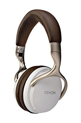 Denon AH-D1200 Overear Headphones | Comforable Long-term Use | Detachable Cable with Built-in Mic | 50mm Drivers | Designed for Commuting Audio Enthusiast | White