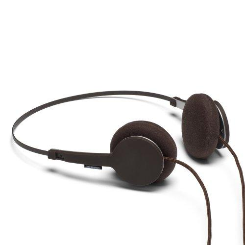 URBANEARS Tanto Wired On-Head Headphones, Adjustable Lightweight Headphones with Built-in Microphone and Remote, Mocca