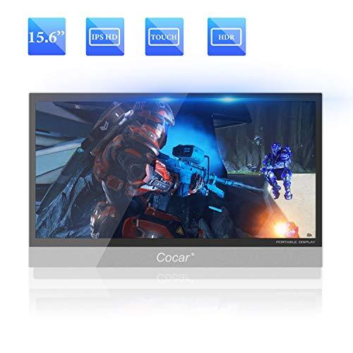 15.6″ Ultra-Slim Portable Monitor IPS Display Full HD 1080P for PC Laptop Gaming PS4 Xbox DVD Player HDMI Metal Housing USB Type-C Powered LED Backlight Built-in Speaker 1920×1080 5mm Thickness