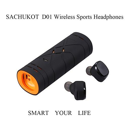 Bluetooth Headsets, SACHUKOT Wireless Sports Headphones with Mic, Noise Reduction,HD Sound with Bass Fitness Earbuds for iPad iPhone iWatch Samsung and Android Phone