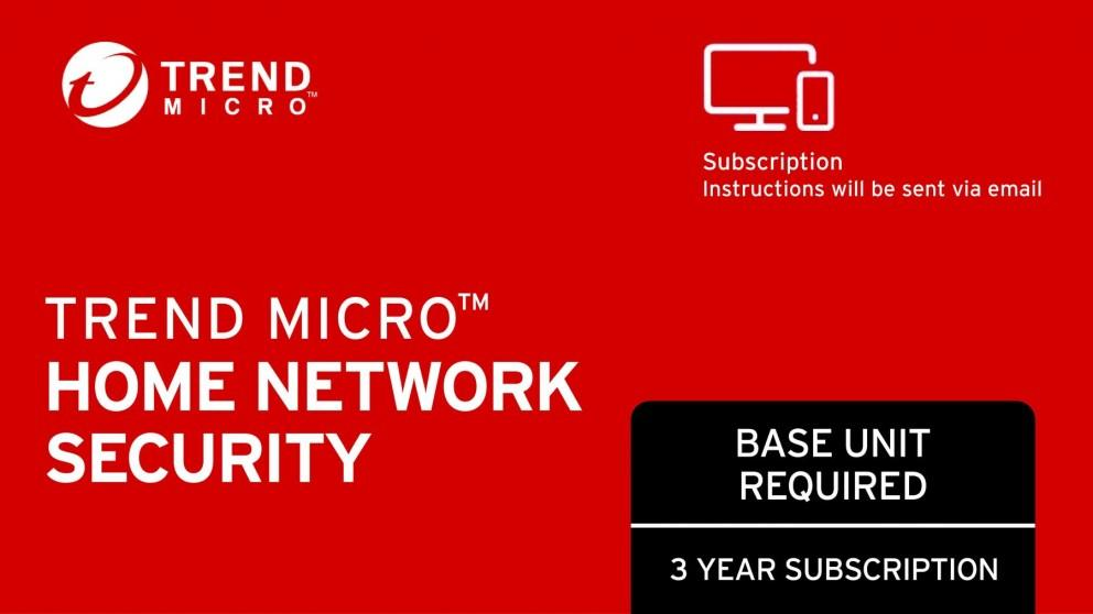 Trend Micro Home Network Security Renewal Electronic Voucher – 3 Year Subscription