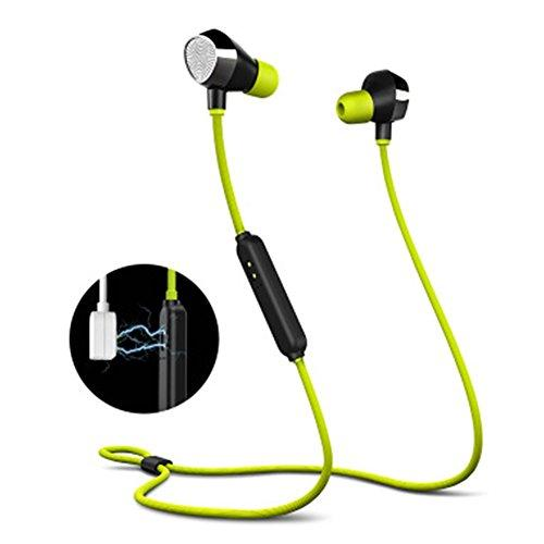 OKCSC i8 Waterproof Bluetooth in-Ear Earbuds,Sports Wireless Bluetooth Earphone-CVC6.0 Noise Reduction with HD Mic,Stereo Sound Headphone for Sports,Gym,Running(Green)
