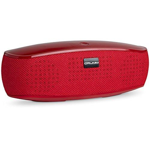 Portable Wireless Bluetooth Speaker by Drumm – Great for Outdoors, Camping, Boats, and the Beach – 16W of power Hands-Free Stereo Speakers with Rich Bass, Clear HD Sound, 12 Hour Playtime – For iPhone and Android